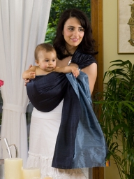 licorice slate silk baby sling
